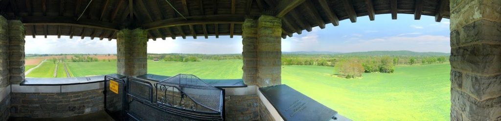 View from the observation tower on the Bloody Lane.